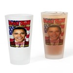 I Voted For Barack Obama Drinking Glass