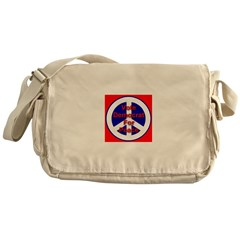 Vote Democrat for Peace Messenger Bag