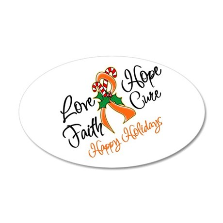 Holiday Hope Kidney Cancer 38.5 x 24.5 Oval Wall P