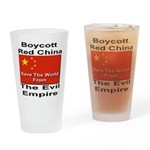 Boycott Red China Drinking Glass