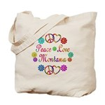 Peace Love Montana Tote Bag