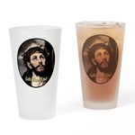 God Bless You! Drinking Glass