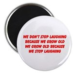 growing old merchandise Magnet