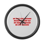 growing old merchandise Large Wall Clock
