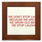 growing old merchandise Framed Tile