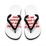 growing old merchandise Flip Flops