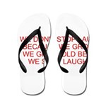 growing old merchandise Flip Flops