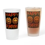 Happy Pumpkins Drinking Glass