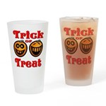 Trick or Treat Pumpkins Drinking Glass