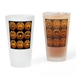 9 Cute Jack-o-lanterns Drinking Glass