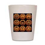 9 Cute Jack-o-lanterns Shot Glass