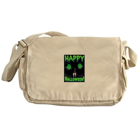 Happy Halloween Creepy Green Messenger Bag