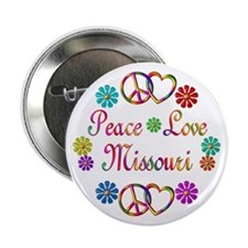 "Peace Love Missouri 2.25"" Button (10 pack)"