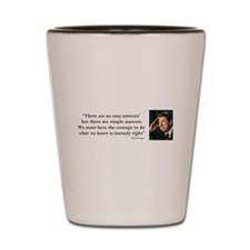 Ronald Reagan There are No Easy Answers Shot Glass