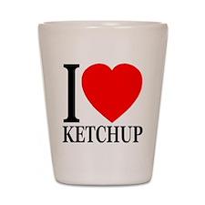 I Love Ketchup Classic Heart Shot Glass