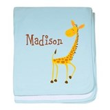 Personalized giraffe Blanket