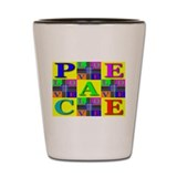 Love Rays Peace 9 Blocks Lemo Shot Glass