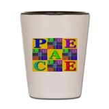 Love Rays Peace 9 Blocks Gold Shot Glass