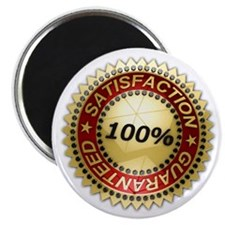 "Satisfaction Guaranteed 2.25"" Magnet (100 pack)"