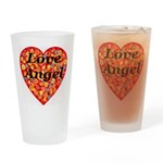 Love Angel Drinking Glass