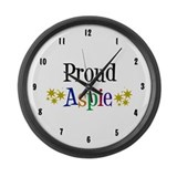 Proud Aspie Large Wall Clock