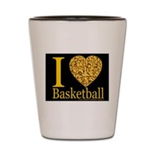 I (Heart) Basketball Shot Glass