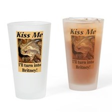 Kiss Britney Drinking Glass