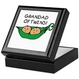 Grandad of Twins Pod Keepsake Box