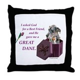 Great Dane (Blue Merle) Throw Pillow