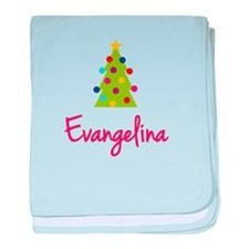Christmas Tree Evangelina baby blanket