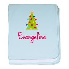 Christmas Tree Evangelina baby blanket