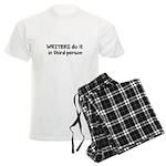 Writers Do It In Third Person Men's Light Pajamas