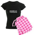 Writers Do It In Third Person Women's Dark Pajamas