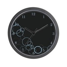 Chrome Bubbles Wall Clock