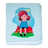 Cute Illustrations of cartoon characters and comics baby blanket