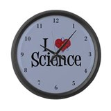 I Love Science Large Wall Clock
