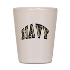 USN Navy Blue and Gold Shot Glass