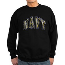 USN Navy Blue and Gold Sweatshirt