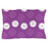 Polka Buttons Purple Pillow Case