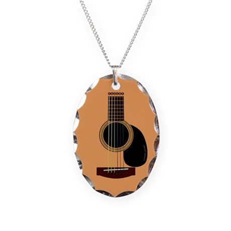 acoustic guitar necklace oval charm by admin cp3531020