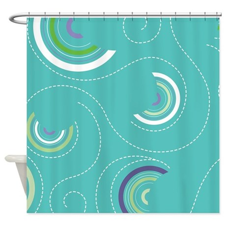 half swircles shower curtain by kippygocontempo. Black Bedroom Furniture Sets. Home Design Ideas