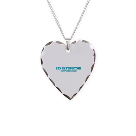 Sex instructor Necklace Heart Charm