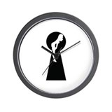 Sexy girl keyhole Wall Clock