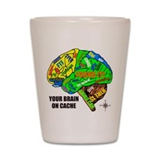 Your Brain on Cache Shot Glass
