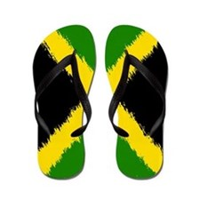 Flag of Jamaica Flip Flops