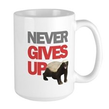 Honey Badger Don't Care Ceramic Mugs