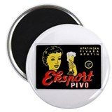 "Serbia Beer Label 1 2.25"" Magnet (10 pack)"