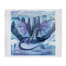 Ice Dragon Fantasy Art by Molly Harrison Throw Bla