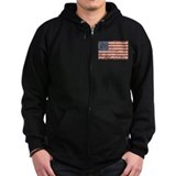 13 Colonies US Flag Distresse Zip Hoody