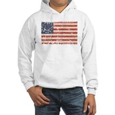 13 Colonies US Flag Distresse Hoodie